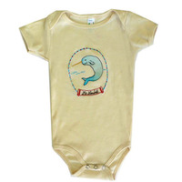 Embroidered One Piece  and Toddler Tee Narwhal