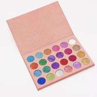 24 Colors Pressed Eyeshadow Palette Shimmer Waterproof Long-lasting Matte Pigment Diamond Glitter Pretty Eyeshadow Palette
