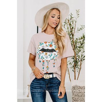 Floral Lip Drips Graphic Tee