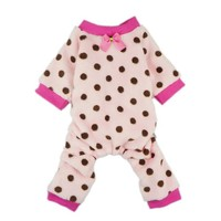 Fitwarm® Adorable Pink Pet Dog Pajamas for Dog Winter Coat Clothes Jumpsuit, X-small