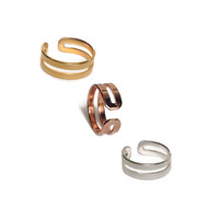 3 Color Love Double Knuckle rings