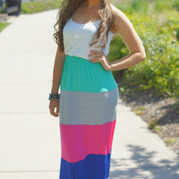 Catch Me If You Can Striped Maxi Dress