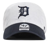 Detroit Tigers Two Tone Clean Up Hat Grey / Navy
