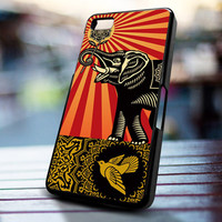 black elephant obey design for iPhone 4/4s, Iphone 5, Samsung Galaxy S3, Samsung S4, Blackberry Z10, Ipod 4 & Ipod 5 from stevaz store