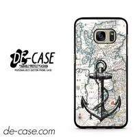 Nautica Map And Anchor DEAL-7601 Samsung Phonecase Cover For Samsung Galaxy S7 / S7 Edge