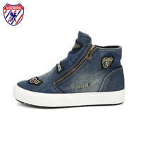 M.GENERAL 2016 New Spring Style Women Fashion Canvas Casual Denim Double Side Zipper Shoes Zapatos Mujer Zapatillas M699085
