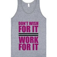 Don't Wish For It-Unisex Athletic Grey Tank