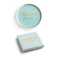 I Believe In Me Porcelain Tray in Mint and Gold