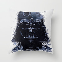 Darth Vader Throw Pillow by Qualitypunk