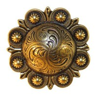Santa Fe Sun Belt Buckle - Antique Brass