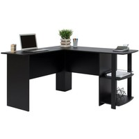 Best Choice Products L-Shaped Corner Computer Office Desk Furniture- Black - Walmart.com