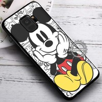 Cute Mickey Mouse Comics iPhone X 8 7 Plus 6s Cases Samsung Galaxy S9 S8 Plus S7 edge NOTE 8 Covers #SamsungS9 #iphoneX