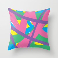 Abstract 3 Throw Pillow by PoseManikin