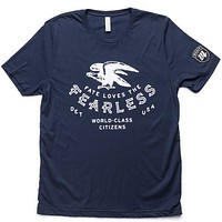 FATE Loves The Fearless Tee - Navy/White
