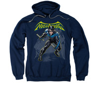 Nightwing Ready Mens Pullover Hoodie