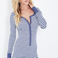 Striped Thermal PJ Romper