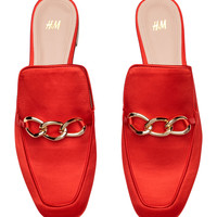 Slip-on loafers - Bright red - Ladies   H&M GB