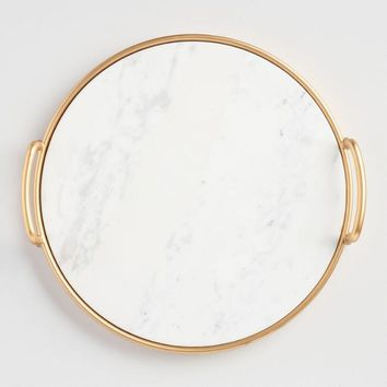 Marble and Gold Tray