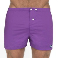 Solid Purple Boxer Short - Darin Size L Available