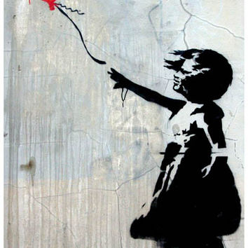 Banksy Balloon Girl Poster 11x17