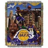 Kobe Bryant - Lakers NBA Woven Tapestry Throw Blanket (48x60)