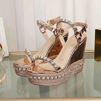 Christian Louboutin CL Pyraclou 11cm Wedges Style #31