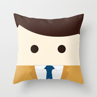 supernatural castiel Throw Pillow by heartfeltdesigns by Telahmarie