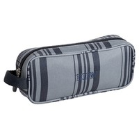 Gear-Up Grey Classic Plaid Pencil Case