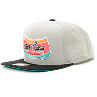 NBA Hall Of Fame x Mitchell and Ness Upside Down Spurs Grey Snapback Hat