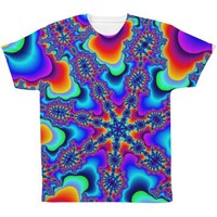 Abstract Colors All Over Print Tee