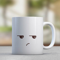 Emoticon - Grumpy - Cute Mugs - Gift for Her - Sister Gift - Girlfriend Gift - Coffee Mugs - Tea