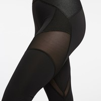 Michi Illusion Leggings Black | Designer Activewear