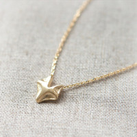 Fox Necklace in gold