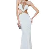 PRIMA 17-735 Strappy Cut Out Prom Dress