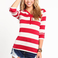 RUGBY STRIPED HENLEY TEE
