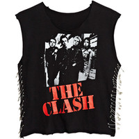 Sleevless Side Pin The Clash Tee