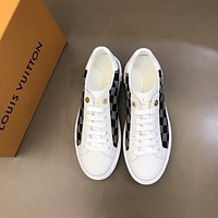 lv louis vuitton men fashion boots fashionable casual leather breathable sneakers running shoes 782
