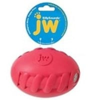 JW Sillysounds Spiral Football Dog Toy