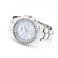 Bezel glam metal watch (3 colors)