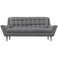 Response Fabric Loveseat Gray
