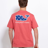 Mens T-Shirts: Star Whale Short Sleeve Graphic Pocket Tee