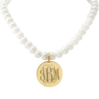 Stella Rae Engraved Pearl Necklace