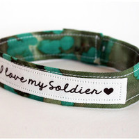 Custom Military Support Bracelet - Army, Marines, Air Force, Navy, Soldier Wife, Girlfriend, Fiance