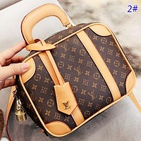Louis Vuitton LV Fashion New Monogram Tartan Print Leather Box Shape Handbag Shopping Leisure  Shoulder Bag Crossbody Bag 2#