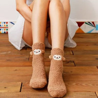 Momo Monkey Cute Fleece Socks