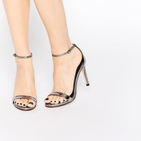 Steve Madden | Steve Madden Stecy Two Part Pewter Part Sandals at ASOS
