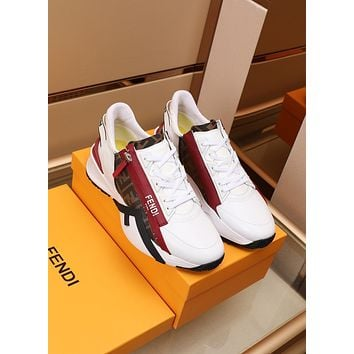 FENDI Men Fashion Boots fashionable Casual leather Breathable Sneakers Running Shoes0430dp