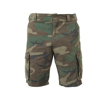 Rothco - Vintage Paratrooper Woodland Camo Cargo Shorts