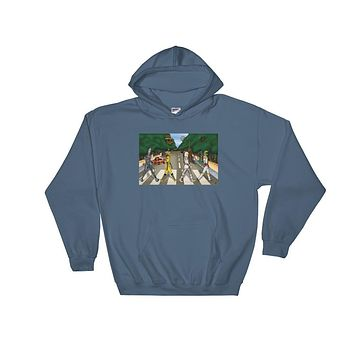 Bounty Road Street View Beatles Star Wars Mash Up Parody Heavy Hooded Hoodie Sweatshirt