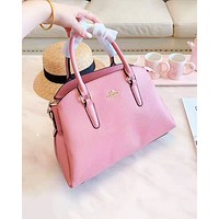 Coach hot seller of fashionable ladies' casual shopping bag with single shoulder bag Pink